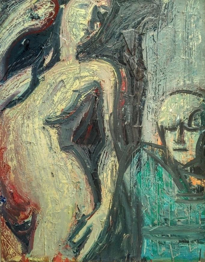 Composition, 146x114, huile sur toile