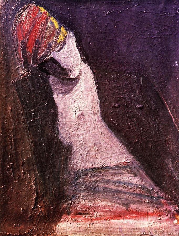 La casquette rouge, huile sur toile, collection particulière, Belgique