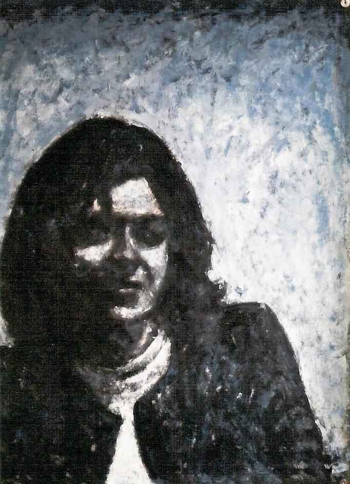 Portrait, acrylique, 50x65, [1975], collection d'atelier