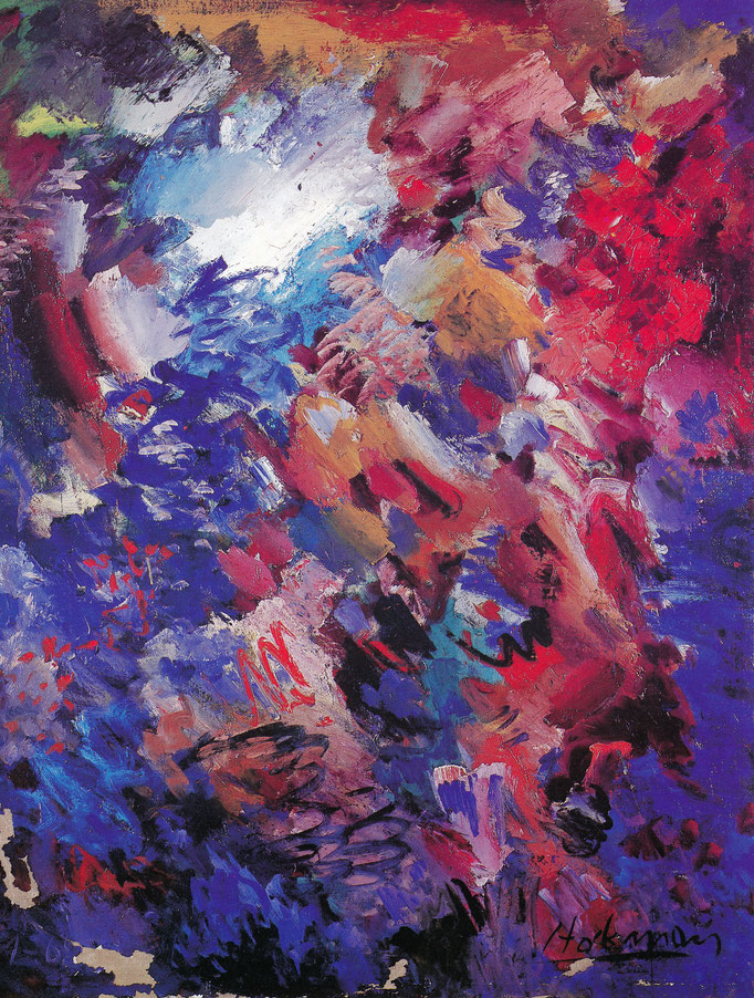 Abstrait lyrique, 114x145, [1962] huile sur toile, collection d'atelier