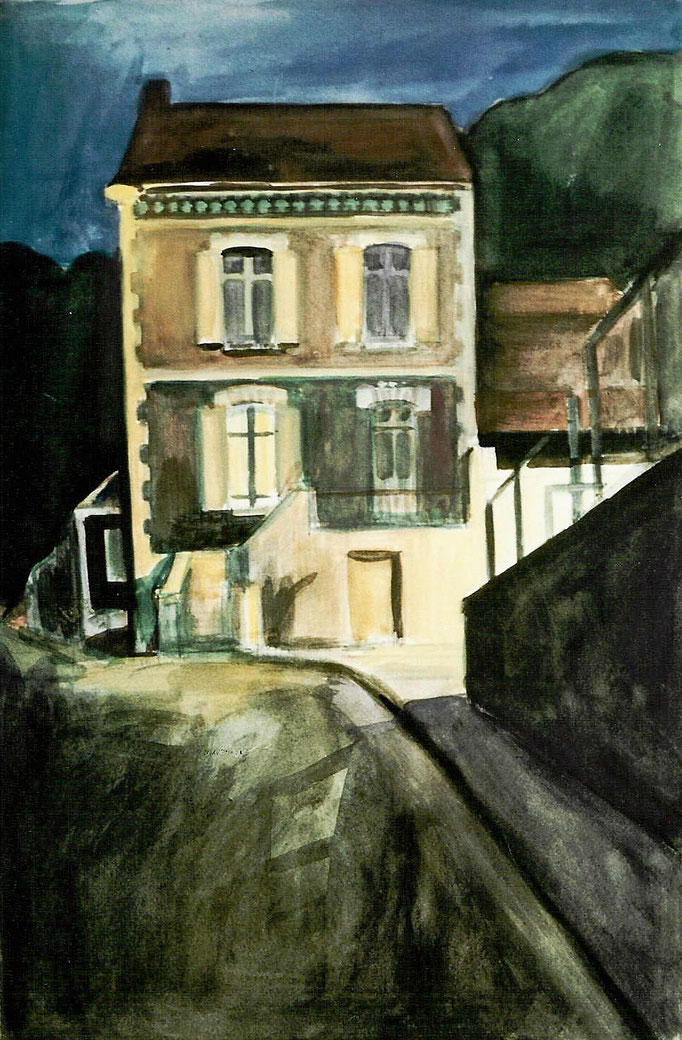 La maison du crime, aquarelle, [1975], collection particulière