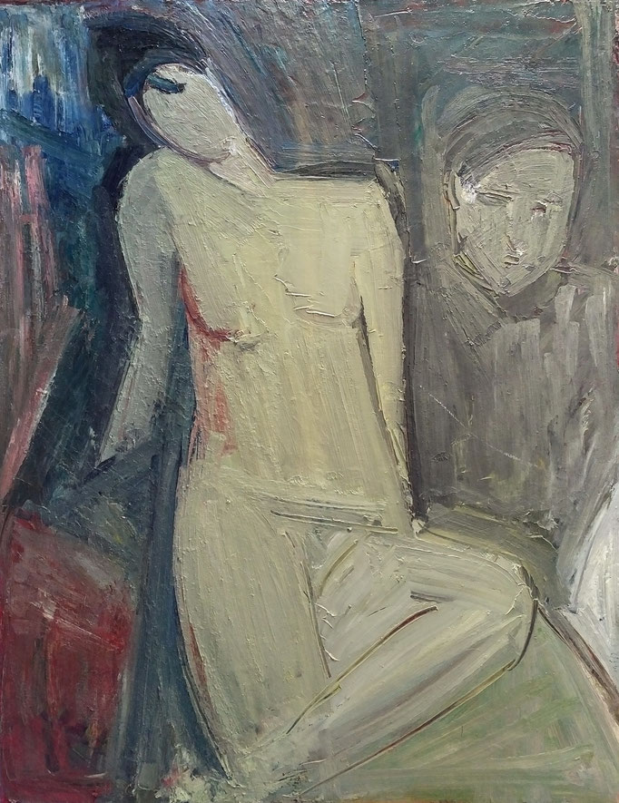 Gladys et autre, 146x114 huile sur toile, 1981