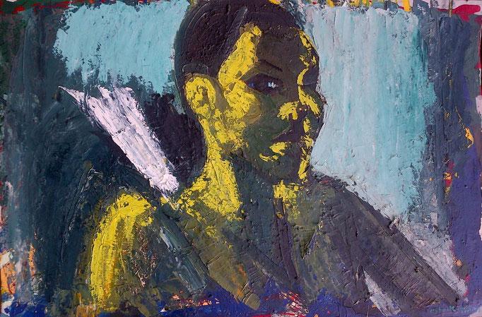 Visage Femme,115x76, huile sur toile