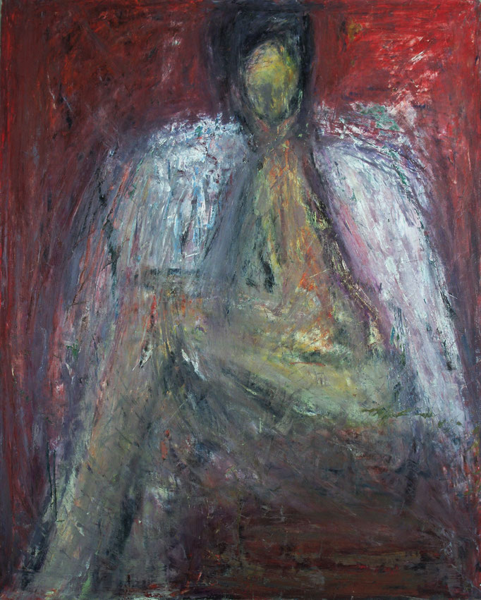 Gladys esquisse, huile sur toile, 1981