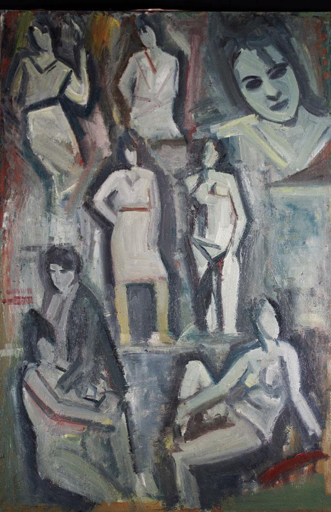 Gladys ensemble, huile sur toile, 1981 [Londres]