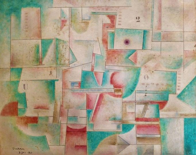 """""""2"""", 1967, huile sur toile, collection d'atelier"""