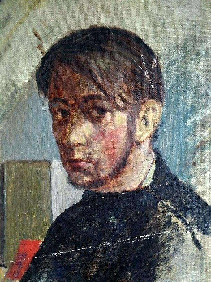 Autoportrait, 1958, huile sur toile, collection d'atelier