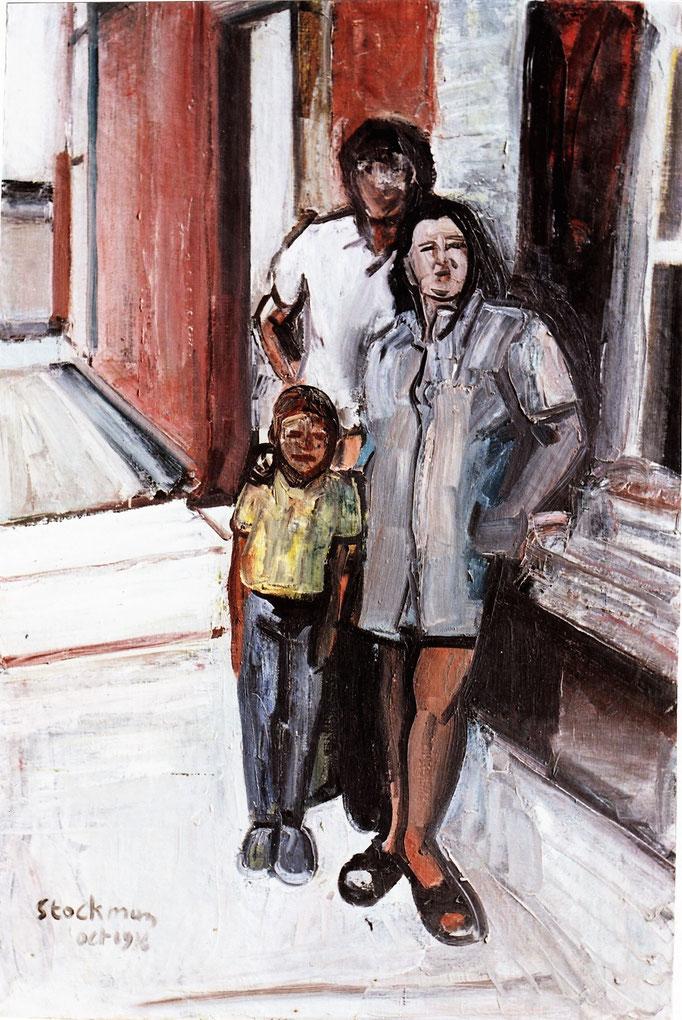 Famille de Couvron, 180x120, 1976, huile sur toile