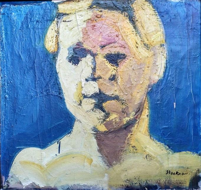Véronique,72x69, huile sur toile et laque industrielle, [1979]