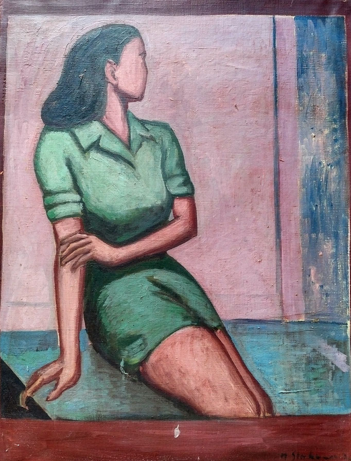 huile sur toile, collection d'atelier
