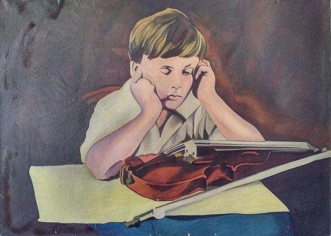 Yehudi Menhuin série TAT , 130x97, [1974] huile sur toile