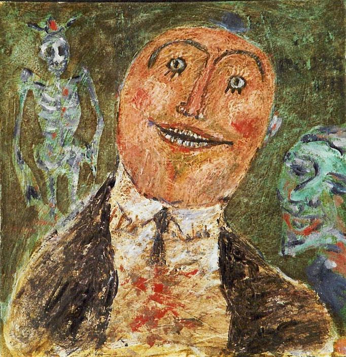 D'après James Ensor, huile sur toile,  [1972], collection particulière,  Belgique