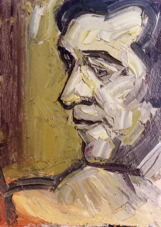 Autoportrait,69x55, huile sur toile