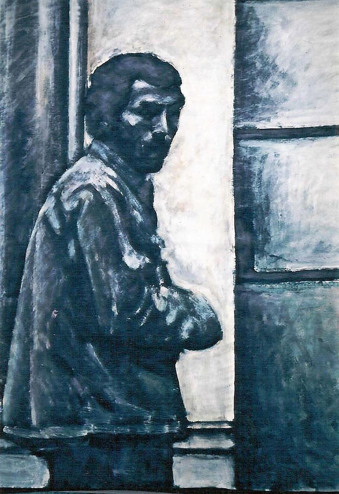 Éboueur , acrylique, 50x65, [1975], collection d'atelier