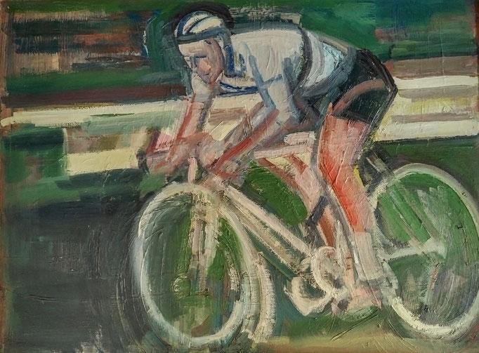 Le cycliste, 130x97, 1979, huile sur toile