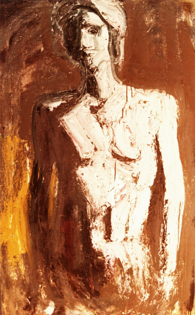 Femme debout, huile sur toile, collection particulière, Belgique