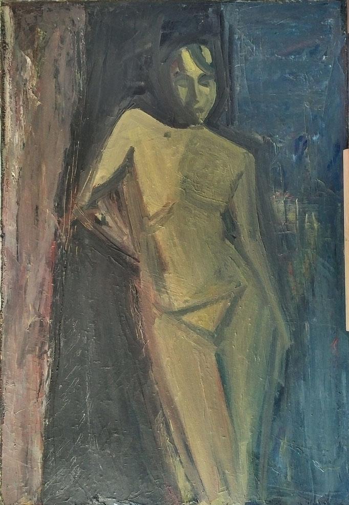 Gladys esquisse 2, huile sur toile, 1981