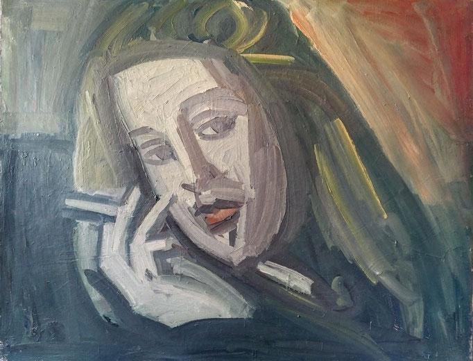 Femme à la cigarette, 146x114, huile sur toile