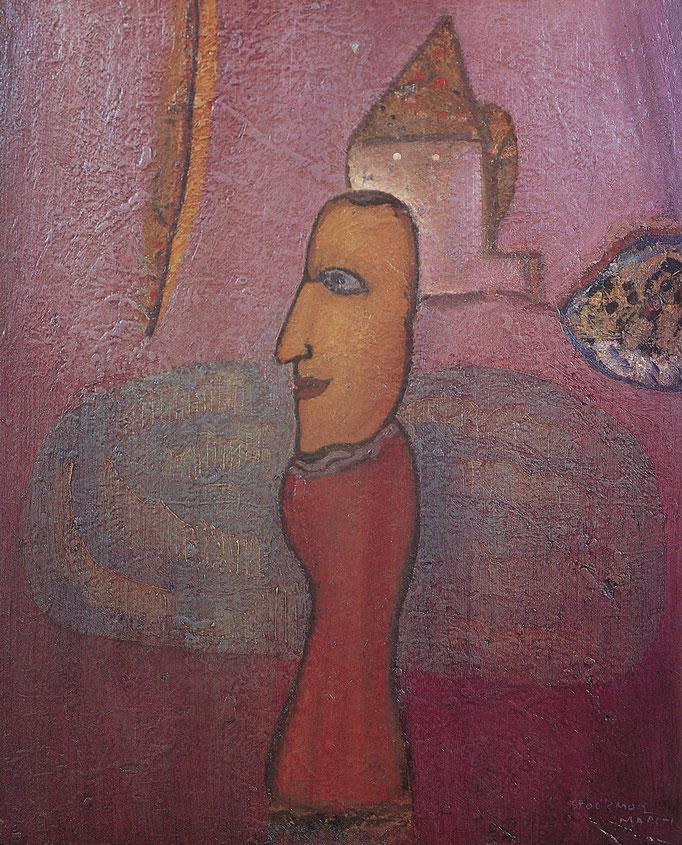 Bernanos, 80x100, huile sur toile, 1971, collection particulière, Belgique