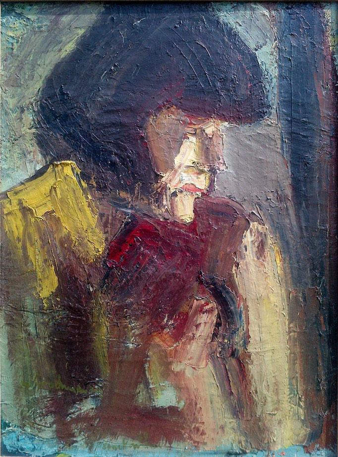 Dominique, 73x54, 1978, huile sur toile