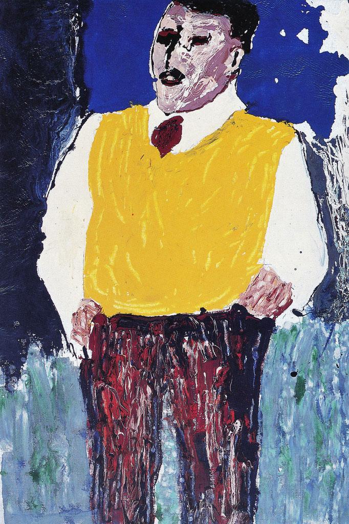 Le père Esken, 150x99, 1977, laque industrielle, collection particulière, Belgique