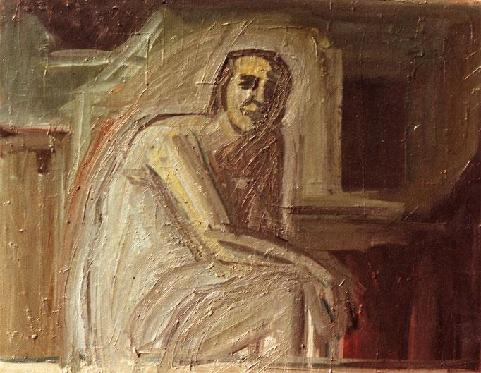 Autoportrait, huile sur toile