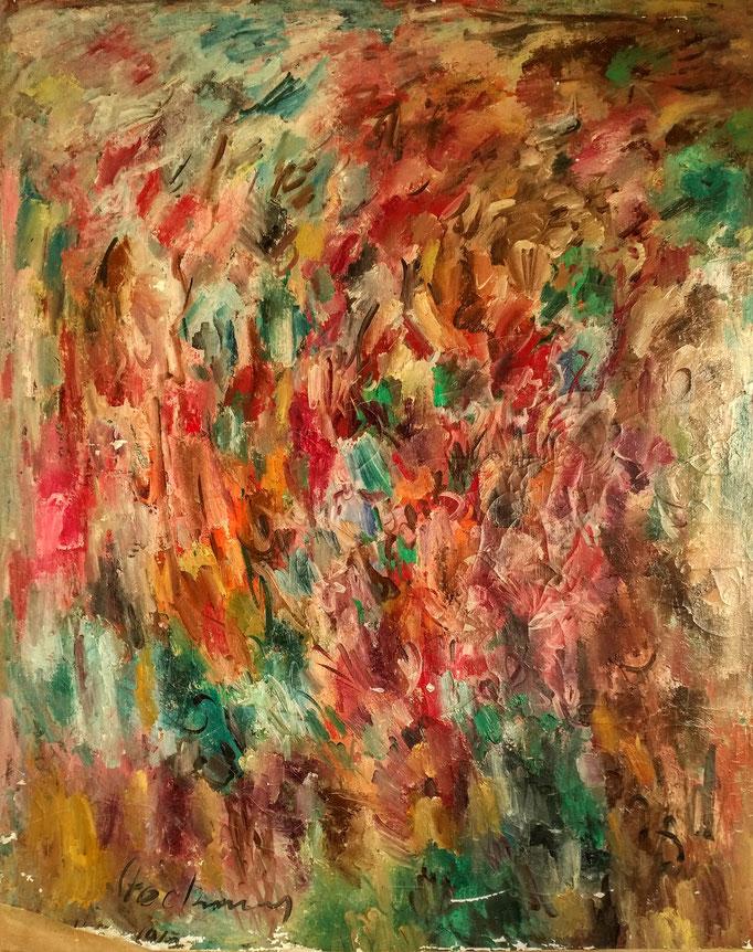 Grand abstrait lyrique, 162x130, [1962] huile sur toile, collection d'atelier