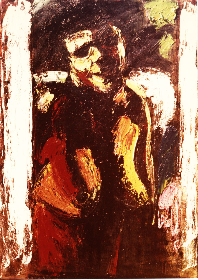 Buste, [1977], huile sur toile , collection particulière