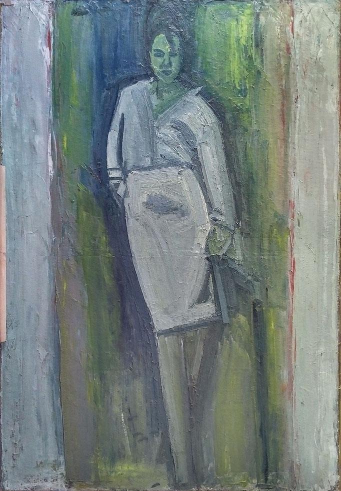 Gladys debout, 160x110, huile sur toile, 1981