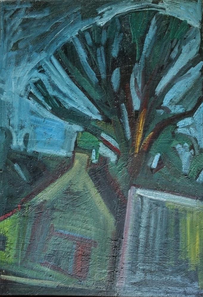 Paysage irlandais, 116x81, 1981, huile sur toile