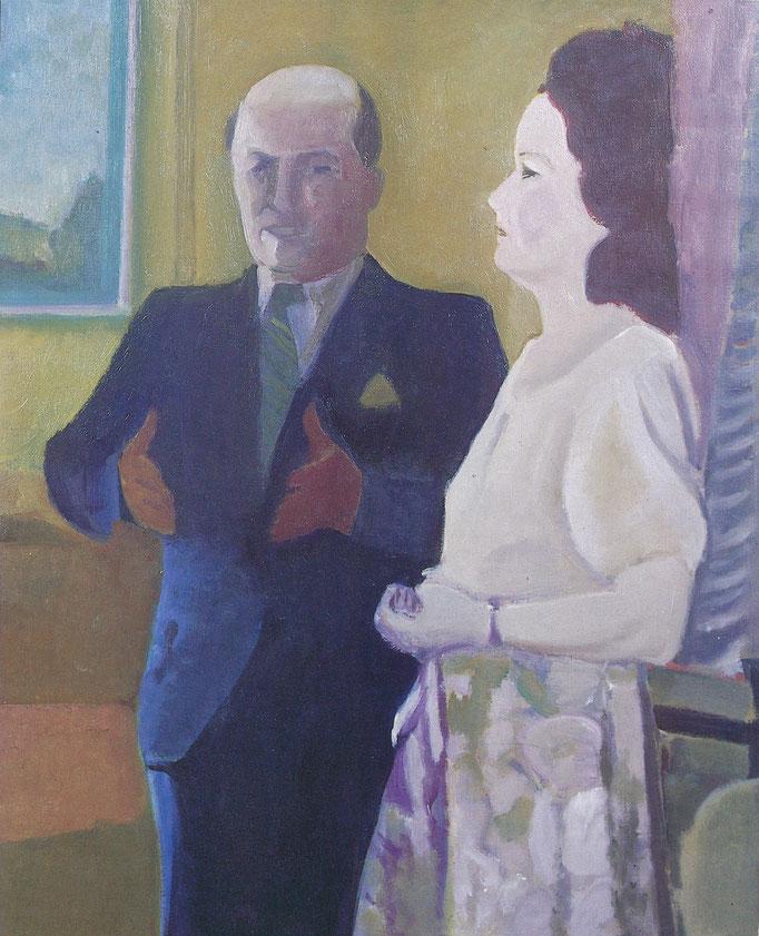 La conversation, huile sur toile, collection particulière Belgique