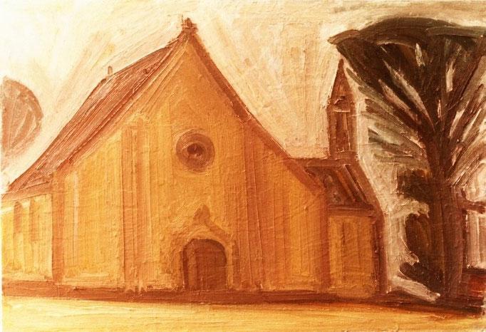 Eglise bretonne [1980], huile sur toile, collection particulière, Belgique