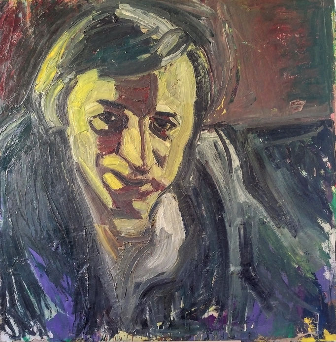 Autoportrait, 140x138, huile sur toile