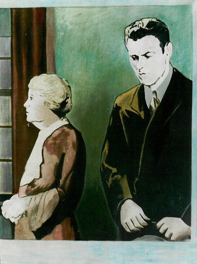 Mére et fils série TAT, 146x114, [1974], huile sur toile