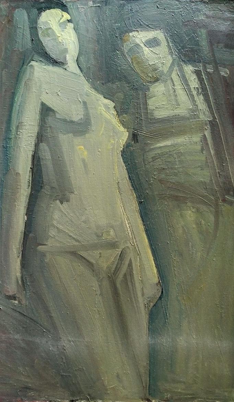 Gladys composition, 116x89, huile sur toile, [1981]