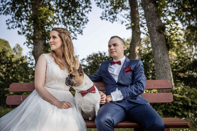 Hochzeitsshooting mit Hund