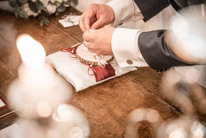 Hochzeit Hochzeitsfotograf Norddeutschland Vintage Ringtausch