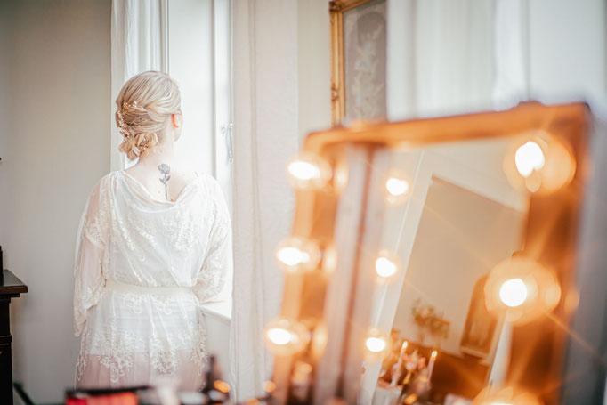 Hochzeit Hochzeitsfotograf Norddeutschland Fineart Greenery Getting Ready