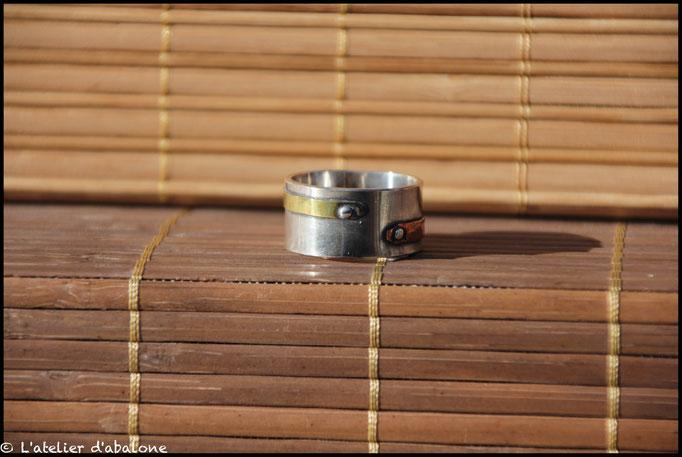 14.Bague Steampunk CU laiton, Argent 925, Cuivre pur, 69 euros