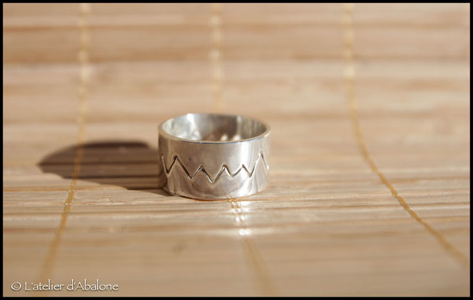 10.Bague twin dents, Argent 925, 56 euros