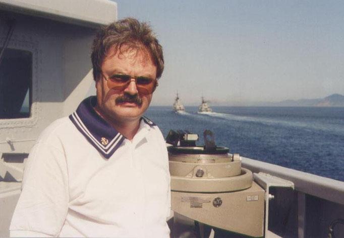 Fasola su Nave Aviere in navigazione