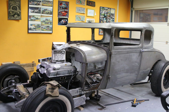 Hot Rod Ford A Modell Aluminium Karosserieteile handgefertigt Blechklopfer Feinblechner W. Schröder