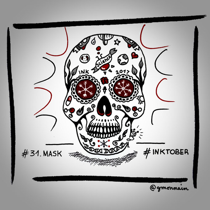 Finally, down with the #mask for the last #inktober2017 #draw !