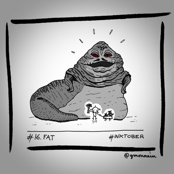 """Hey Jabba the #fat ! Here your 5 daily fruits & vegetables ! """
