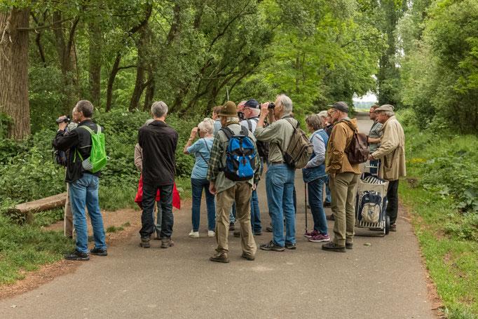 Teilnehmer der Vogel-Exkursion