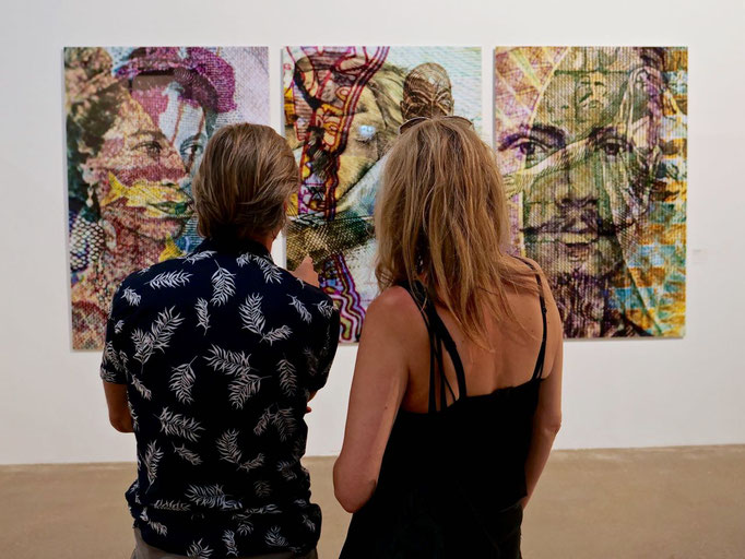 Triptychon: Echte Fotoabzüge auf Aludibont   2 mm Acryl  Vernissage 25.05.2018 Berlin