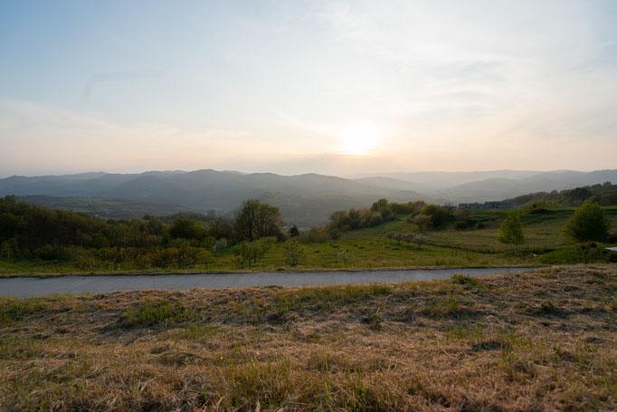 Abendstimmung im Frühling im Ferien- und Seminarzentrum Punto Verde