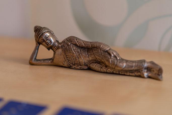 unser lying Buddha erinnert uns daran gelassen zu bleiben ;-)