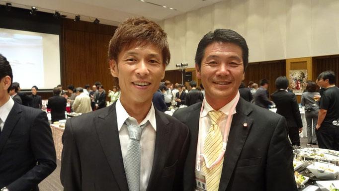 ボートレーサー池田選手と記念撮影
