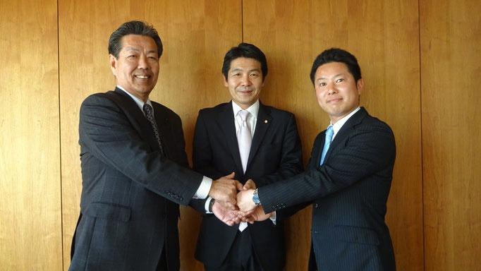 沢田県議と伊藤たつや自民党青年局長とともに
